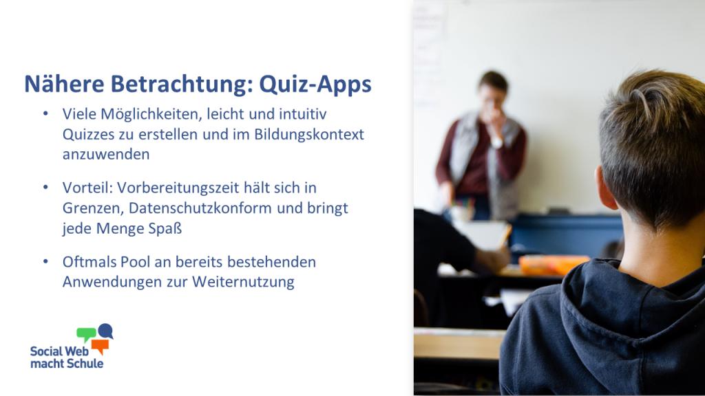 Quiz-Apps in letzter Schulwoche.