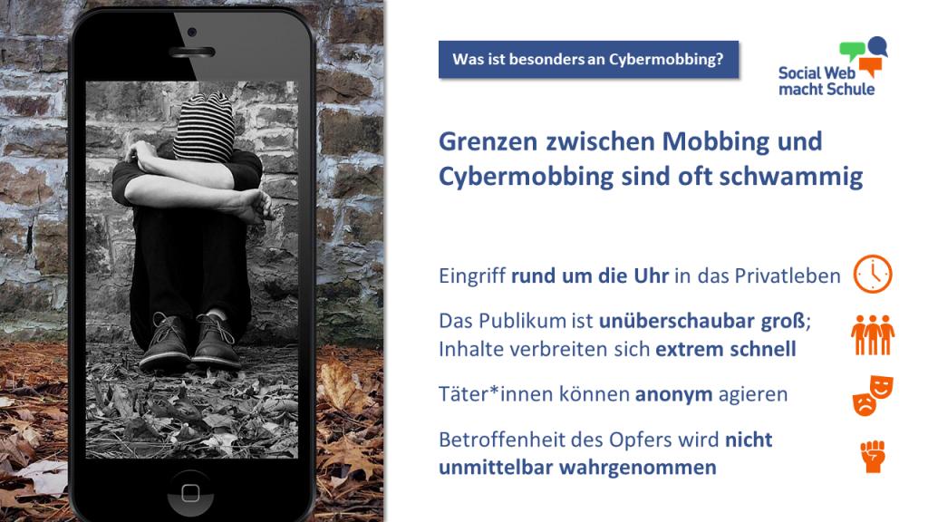 Unterschied Mobbing und Cybermobbing